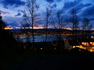 Tromso by nightfall