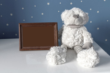 picture frame in nursery