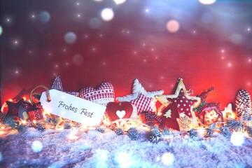 Weihnachtlicher Hintergrund - Weihnachtsgruß - Frohes Fest