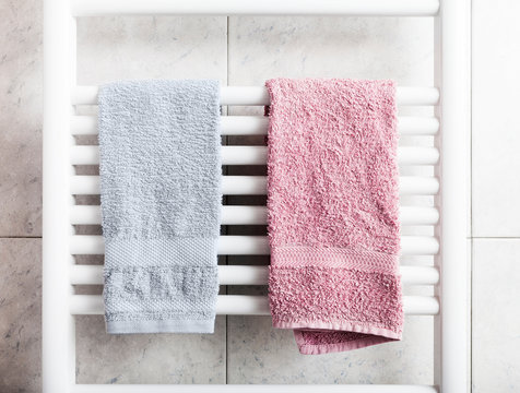 Towels on heater