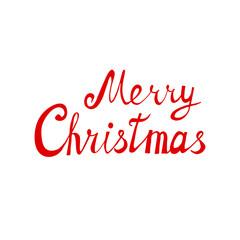 Merry Christmas lettering. Vector design