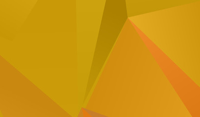 Orange geometric background with triangles of different shapes and sizes. A combination of geometric shapes