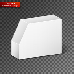 White Product Package Box Illustration Isolated On