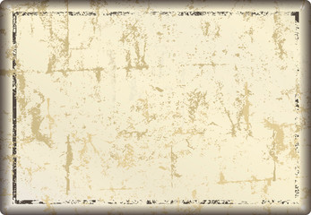 grunge blank metal sign or distressed  picture frame, free copy space, vector illustration Wall mural