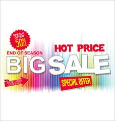 Big sale and super offer Black Friday background retro design