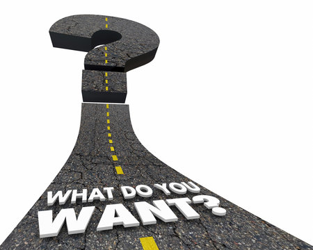 What Do You Want Question Mark Road 3d Illustration