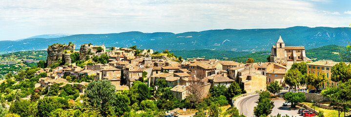 Panorama of Saignon village in Provence, France