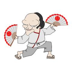dancing japanese man