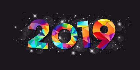 Carte de Vœux 2019 - Bonne Année - Happy New Year