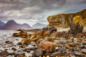 The Cuillins from Elgol, Isle of Skye, Inner Hebrides, Highland, Scotland