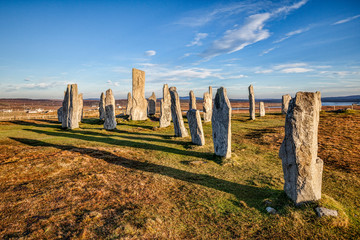Autumn evening at the stone circle at Callanish, Isle of Lewis