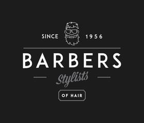 Barber stylist white on black