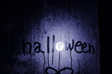 smiley on the window, halloween
