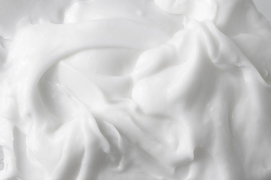 White texture of cosmetic body care cream background
