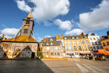 Saint Catherine Old wooden church in Honfleur, famuos french town in Normandy