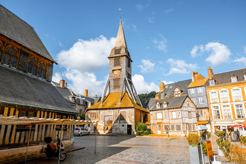 Saint Catherine Old wooden church in Honfleur, famuos french town in Normandy Fototapete