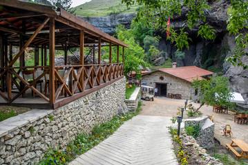 Karabuk, Turkey, 24 May 2013: Cafe at Mill Canyon, Safranbolu