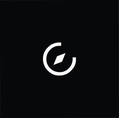 Travel letter C CC minimalist art monogram shape logo, white color on black background
