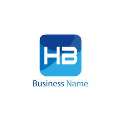 Initial HB Letter Logo Design