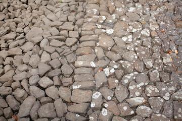 Steine an einer Uferböschung