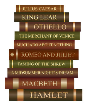Stack of books - William Shakespeare play collection