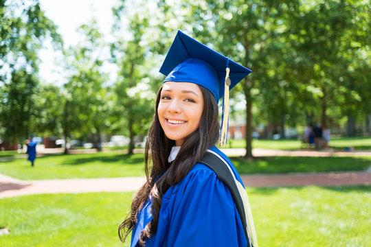 beautiful feamle college graduate