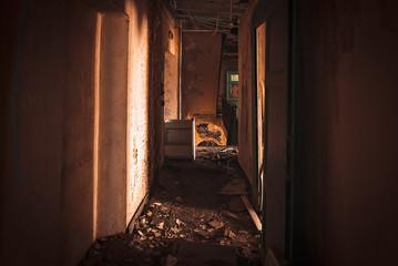 Corridoio Hotel Abbandonato Terme di Miradolo