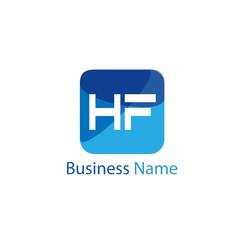 Initial HF Letter Logo Design