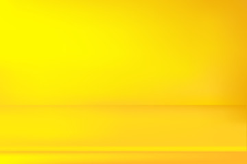 Abstract bright yellow background. Empty room with spotlight effect. Vector EPS10 Graphic art design.