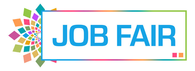 Job Fair Colorful Circular Box