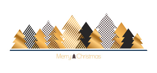 modern gold christmas background
