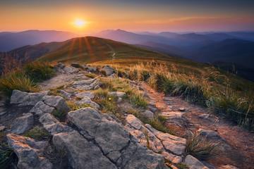 Fototapeta Zachód słońca w Bieszczadach obraz