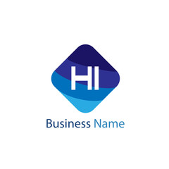 Initial HI Letter Logo Design