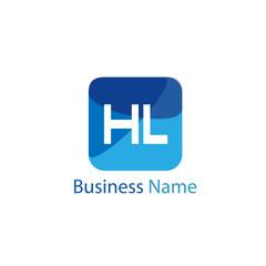 Initial HL Letter Logo Design