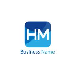 Initial HM Letter Logo Design
