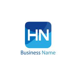 Initial HN Letter Logo Design