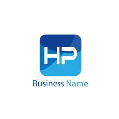 Initial HP Letter Logo Design