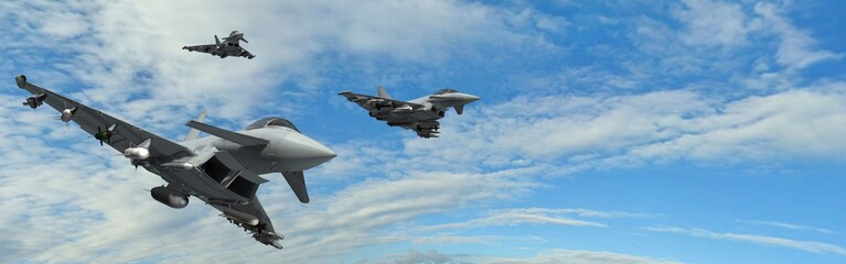 military fighter jets - modern armed military fighter jets flys in formation