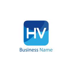 Initial HV Letter Logo Design