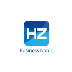 Initial HZ Letter Logo Design