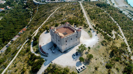The Nehaj Fortress is a fort on the hill just above the town of Senj, Velebit, Croatia. The fortress was built in 1558 to fight the Ottoman Empire.