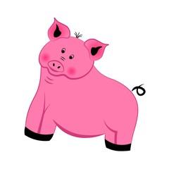 Pink cute piggy.
