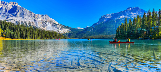 Photo sur Plexiglas Lac / Etang Emerald Lake,Yoho National Park in Canada