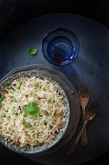 Cumin rice dish