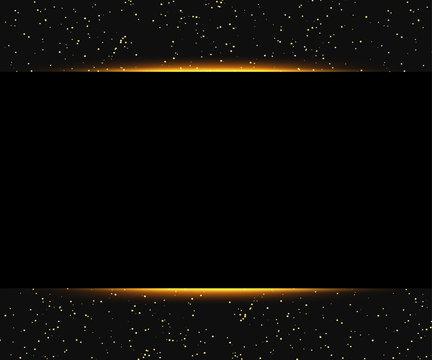 Luxury black and gold background. Design for presentation, concert, show