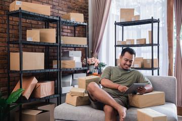 online seller preparing their product