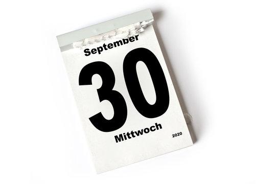 30. September 2020