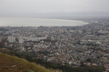 Panorama bird's eye view of Annaba, Algeria