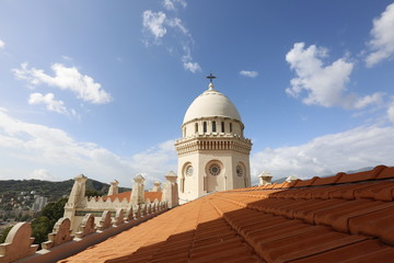 On top of a church, dome