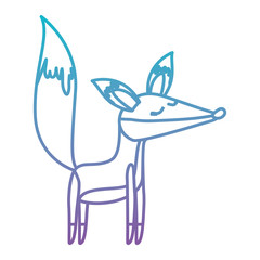 wild fox animal icon